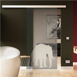Glasschiebetür Elefanten-Design (4) invers Tier-Design Sonderdesign Exklusiv