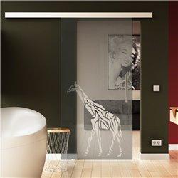 Schiebetür aus Glas Basic-Beschlag Levidor Giraffen-Design (3) invers