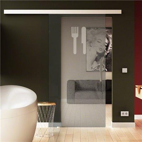Glasschiebetüre Küchen-Design (3) invers komplett Esszimmer & Küche