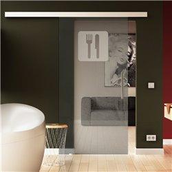 Glasschiebetür Küchen-Design (4) invers komplett soft close möglich
