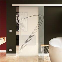 Schiebetür Glas Komplettset Softclose 1025 / 900 / 775 mm Breite Speed-Design modern