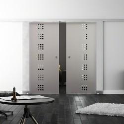Levidor SoftClose-Schiebetür ProfiSlide Quadrat-Design (Q) 2 Glasscheiben