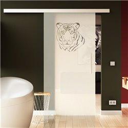 Glasschiebetür Tiger- Design Raubtier Exklusiv Sonderdesign hochwertig