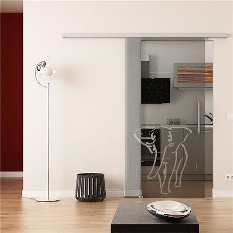Dorma Muto 60 Glasschiebetür Elefanten-Design invers