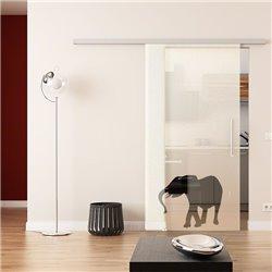 Dorma Muto 60 Glasschiebetür Elefanten-Design (2)