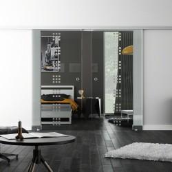 Levidor SoftClose-Schiebetür ProfiSlide Rekursiv-Design (R) 2 Glasscheiben