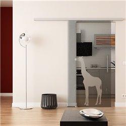 Dorma Muto 60 Glasschiebetür Giraffen-Design invers ESG 8mm