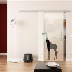 Dorma Muto 60 Glasschiebetür Giraffen-Design ESG 8mm