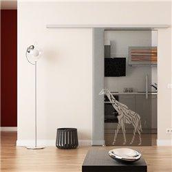 Dorma Muto 60 Glasschiebetür Giraffen-Design (3) ESG 8mm invers