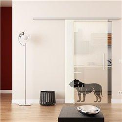 Dorma Muto 60 Glasschiebetür Hunde-Design