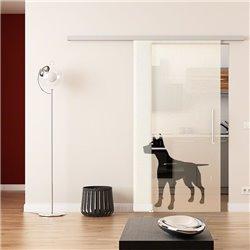 Dorma Muto 60 Glasschiebetür Hunde-Design (2)