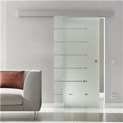 Schiebe Türen Innen Glas Levidor komplett Sonderdesign 6 Streifen / 12 Punkte Design