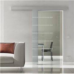 Schiebe Türen Innen Glas Levidor komplett Sonderdesign 6 Streifen / 12 Punkte Design invers