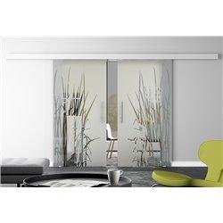 Glasschiebetür Design Kraut Basic-Beschlag Levidor / Glaslager.de 2 Scheiben