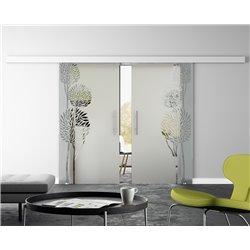 Glasschiebetür Design Fiscus Basic-Beschlag Levidor / Glaslager.de 2 Scheiben