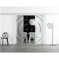 Glasschiebetür Design Bauhaus Basic-Beschlag Levidor / Glaslager.de 2 Scheiben