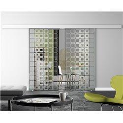 Glasschiebetür Design Inova invers Basic-Beschlag Levidor / Glaslager.de 2 Scheiben