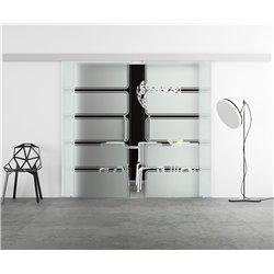 Glasschiebetür Design Enterprice Basic-Beschlag Levidor / Glaslager.de 2 Scheiben
