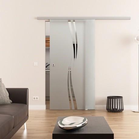 Dorma Muto 60 Glasschiebetür Wellen-Design (A)