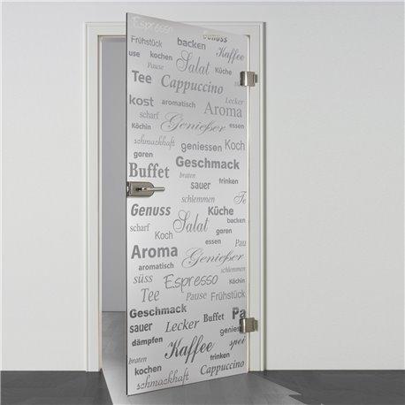 Ganzglastür / Drehtür aus ESG-Glas in Küchen-Design (6) für Studio Griff und Studio Bänder