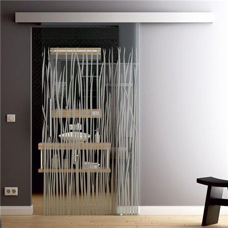 Glasschiebetür Glas Komplettset Softclose Optional 1025 / 900 / 775 mm Grass invers