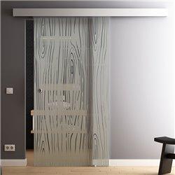 Schiebetür Glas Komplettset Softclose 1025 / 900 / 775 mm Breite Style Bauholz