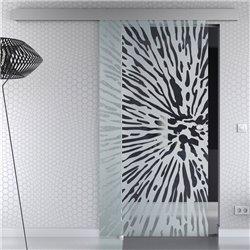 Schiebetür Glas Komplettset Softclose optional 1025 / 900 / 775 mm Design Lichtgeschwindigkeit