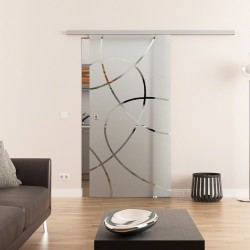 Dorma Muto 60 Glasschiebetür Ellipsen-Design (E)
