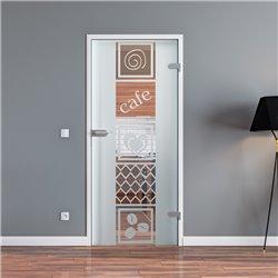 Ganzglastür / Drehtür aus ESG-Glas in Küchen-Design (5) für Studio Griff und Studio Bänder