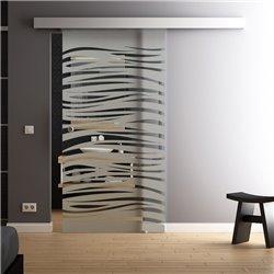 Glasschiebetueren Komplettset softclose Option Levidor aus DE in Wellen-Design