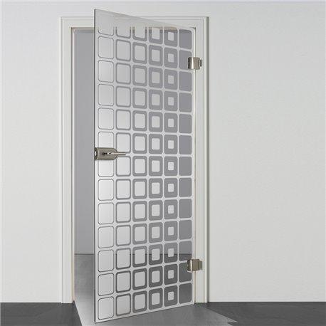 Ganzglastür / Drehtür aus ESG-Glas in Inova Design für Studio Griff und Studio Bänder