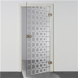 Ganzglastür / Drehtür aus ESG-Glas in Inova Design invers für Studio Griff und Studio Bänder