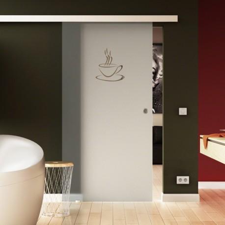 Glasschiebetür Basic-Beschlag Levidor / Glaslager.de Küchen-Design