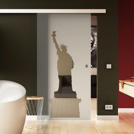 Glasschiebetür Basic-Beschlag Levidor / Glaslager.de New York - Design