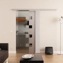 Dorma Agile 50 Glasschiebetür Würfel-Design (W)