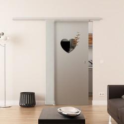 Dorma Agile 50 Glasschiebetür Herz-Design
