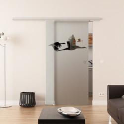 Dorma Agile 50 Glasschiebetür Schwan-Design