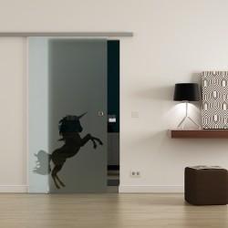 Levidor ProfiSlide SoftClose-Schiebetür Einhorn-Design