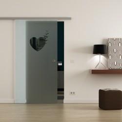 Levidor ProfiSlide SoftClose-Schiebetür Herz-Design