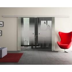 Dorma Agile 50 Glasschiebetür Lamellen-Design (L) 2 Scheiben