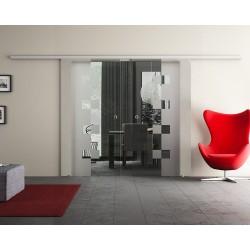 Dorma Agile 50 Glasschiebetür Würfel-Design (W) 2 Scheiben