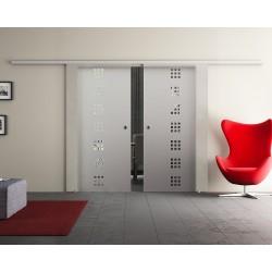 Dorma Agile 50 Glasschiebetür Quadrat-Design (Q) 2 Scheiben
