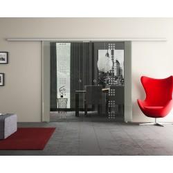 Dorma Agile 50 Glasschiebetür Rekursiv-Design (R) 2 Scheiben
