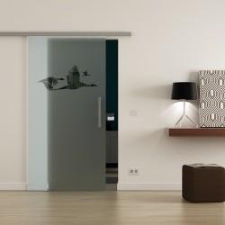 Levidor ProfiSlide SoftClose-Schiebetür Schwan-Design