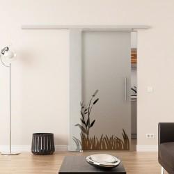 Dorma Agile 50 Glasschiebetür Wiesen-Design