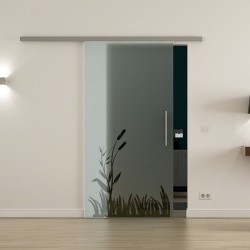 Levidor ProfiSlide SoftClose-Schiebetür Wiesen-Design