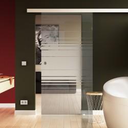 Glas Schiebetuer Horizont-Design (H) komplett Innenbereich SoftKlose optional