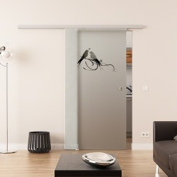Dorma Agile 50 Glasschiebetür Vögel-Design