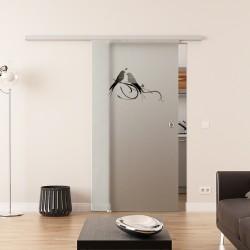 Dorma Muto 60 Glasschiebetür Vögel-Design