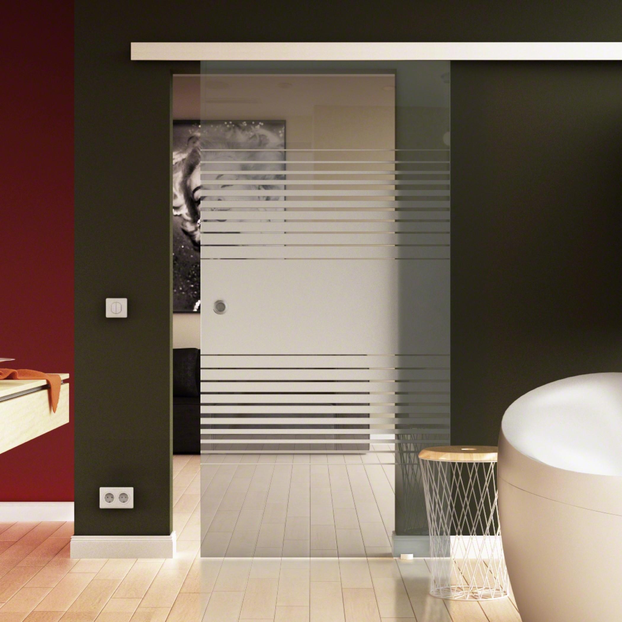 Glasschiebetür Komplettset Soft Close Option Küche & Wohnzimmer ...